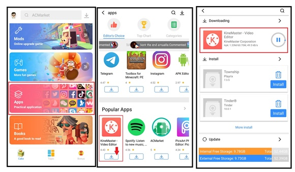 how to download acmarket apps